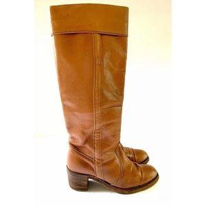 Frye Tall Cuff Campus Boots tan 7 1/2 AA l…